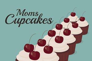 Moms cupcakes. Vintage