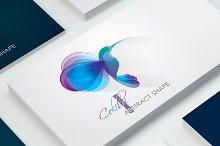 Vector Hummingbird logo-Colibri