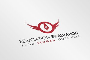 Education Wings Logo Template