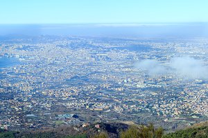 Top view of Naples city (Italy).