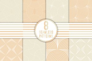 8 art deco seamless patterns