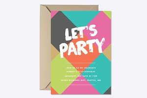 Bright Diamonds Invite Template