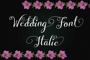 Wedding Font Italic