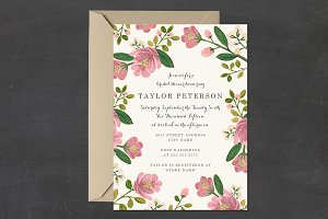 Blush Bouquet Bridal Shower Template