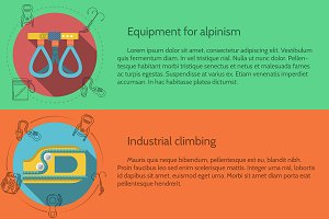 Rappeling equipment flat elements
