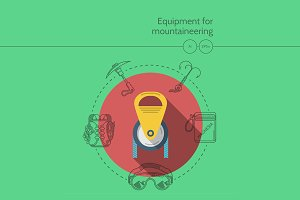 Mountaineering equipment. Pulley
