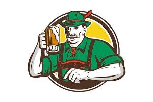 Oktoberfest Bavarian Beer Drinker