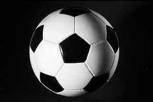 black and white soccer