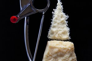 a piece of Parmesan cheese