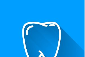 Human teeth, simple white icon