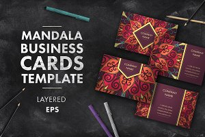 Mandala business card 005