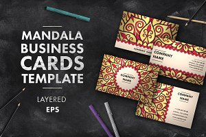 Mandala business card 006