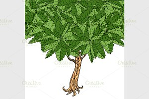 Tree with leaves