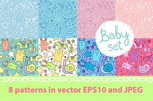 Seamless patterns for kids