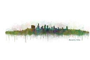 Beverly Hills Cityscape Skyline