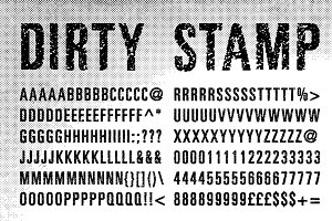 Dirty Stamp Vector Characters