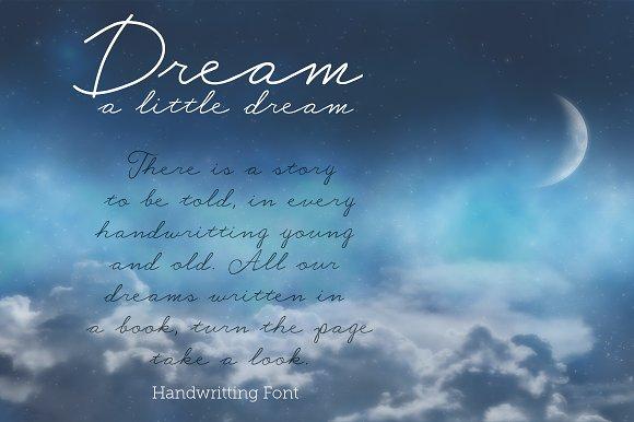 Dream A Little Dream - Font