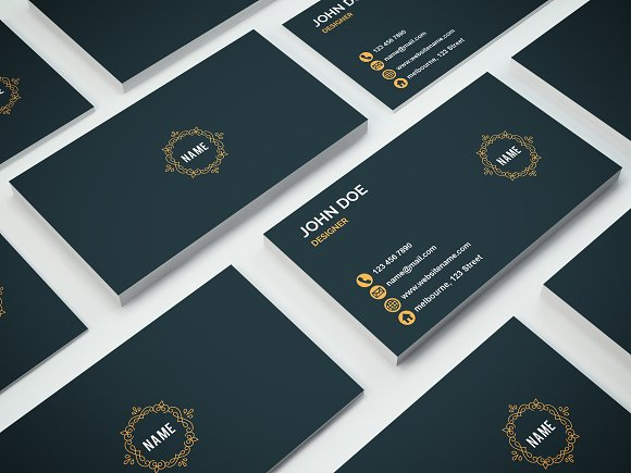Luxury business card business card templates creative market colourmoves
