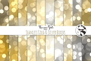 Seamless Gold & Silver Bokehs