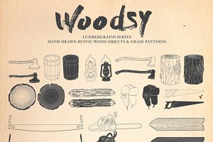 Woodsy Hand Drawn Rustic Pack