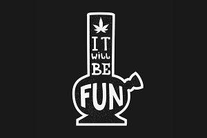 Bong or Hookah and Marijuana symbol