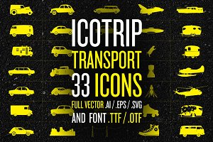 ICOTRIP - Transport bundle icon+font