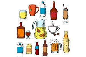 Beverages, alcohol and drinks