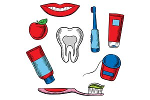 Dental hygiene medical objects