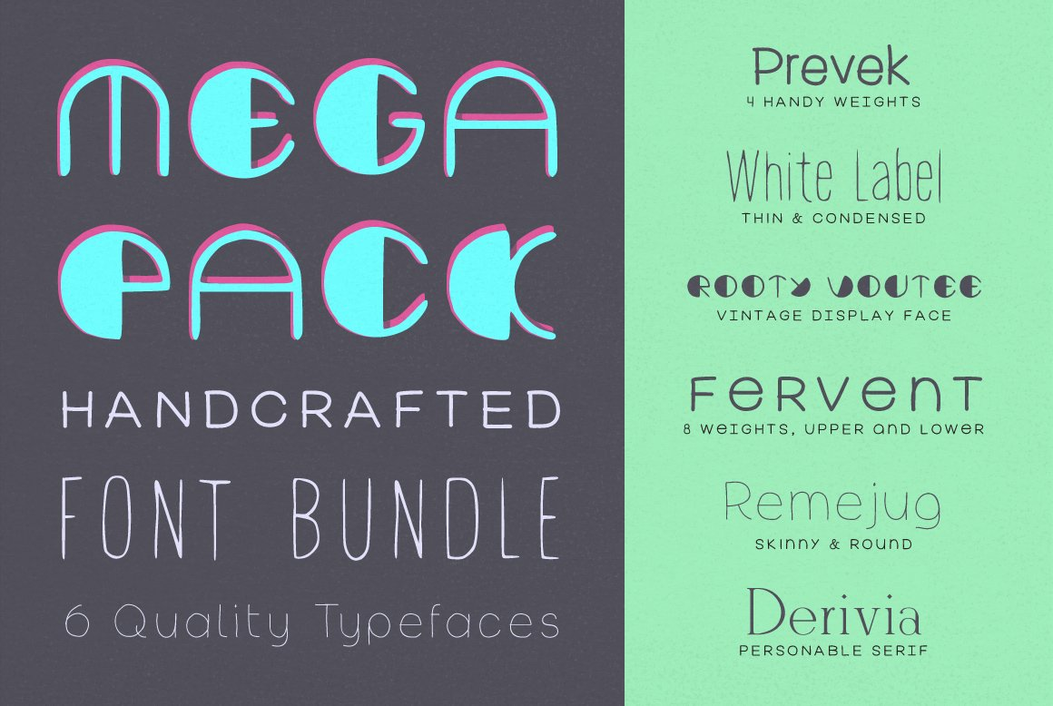 Download Handed Font Pack: 6 typefaces | Stunning Display Fonts ...