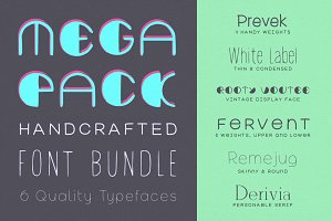 Handed Font Pack: 6 typefaces