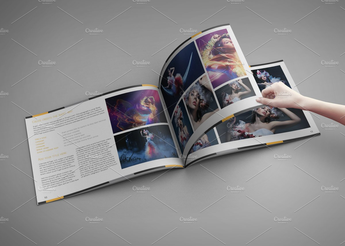 indesign templates for books - portfolio artbook for indesign templates creative market