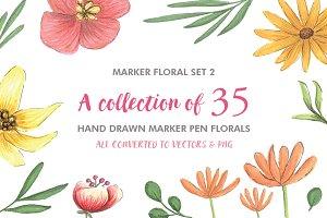 Marker Florals Set 2