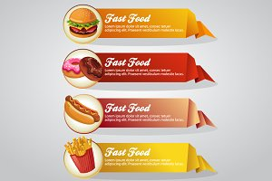 4 Fast Food Origami Banner