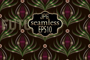Seamless pattern art deco print