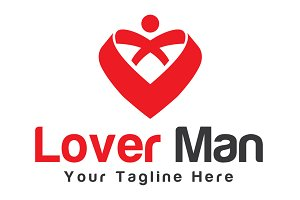 Lover Man Logo Template