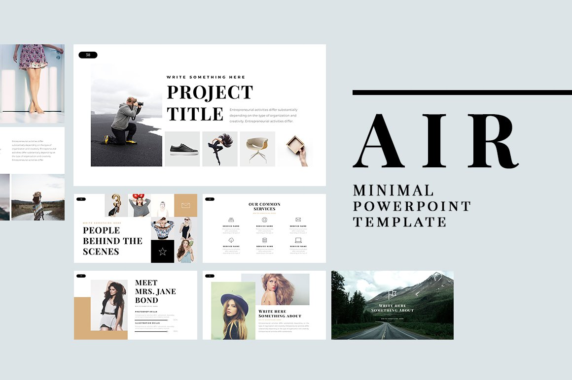 Air minimal powerpoint template presentation templates creative air minimal powerpoint template presentation templates creative market toneelgroepblik Image collections