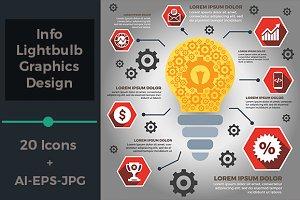 Info Lightbulb Graphics Design