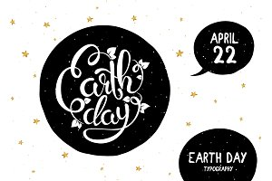 Earth Day lettering