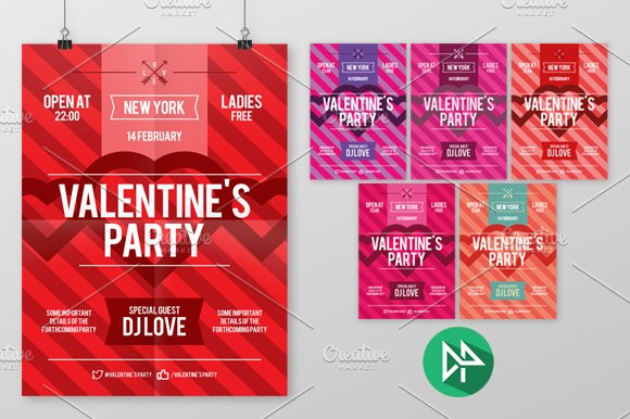 Valentine S Day Poster Flyer Templates Creative Market