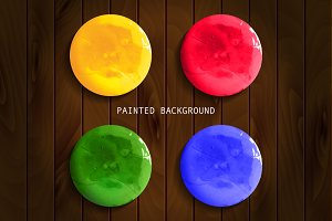 Watercolor paint circles