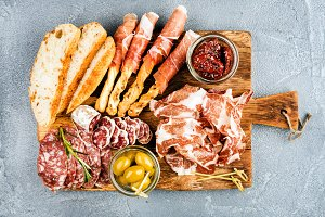 Meat appetizer selection