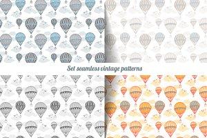 Vintage air balloons print