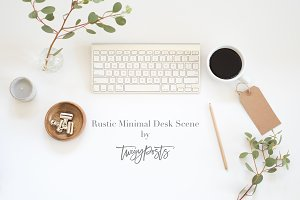 Styled Stock Photo | Rustic Desk