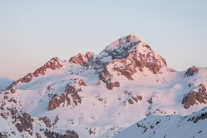 High alpine peaks in the morning