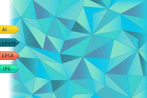 Abstract paper triangles background.