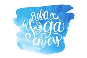 Yoga illustration set