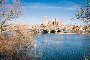 View of City of Salamanca, Spain
