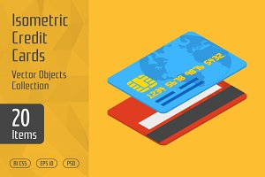 Isometric Credit Cards