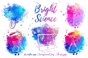 Bright Science. Vector set.