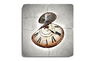Abstact puzzle clock